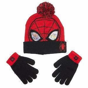 Spider-Man Gift Ideas Marvel Spider-Man Boys Beanie Hat and Gloves Winter Set photo