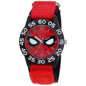 Spider-Man Gift Ideas Marvel Boy's Spider-Man Quartz Plastic and Nylon Casual Watch photo