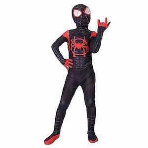 Spider-Man Gift Ideas Alicosplay Miles Morales 'Spider-Man: Into the Spider-Verse' Costume for Kids photo