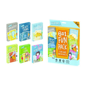 Six card games for kids including Go Fish, Crazy Eights, Memory, Slap Jack, Matching, and Old Maid from Target photo
