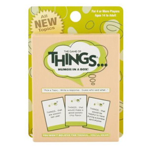 Travel size deck of The Game of Things from Walmart photo