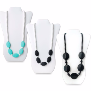 Best Teething Necklaces Three Teething Necklaces Teal and Black photo