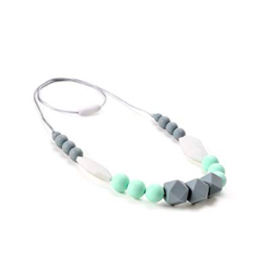 Best Teething Necklace Grey and Teal Teething Necklace for Babies photo