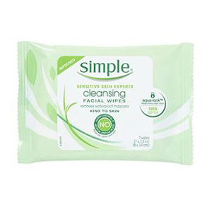 A pack of Simple cleansing wipes from Ulta photo