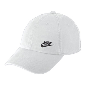 White adjustable Nike baseball hat from Dick's Sporting Goods photo