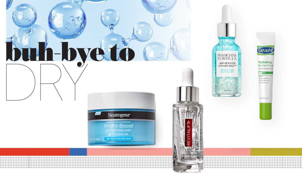 A variety of hydrating skin care products from Neutrogena, L'Oreal, Physician's Formula, and Cetaphil photo