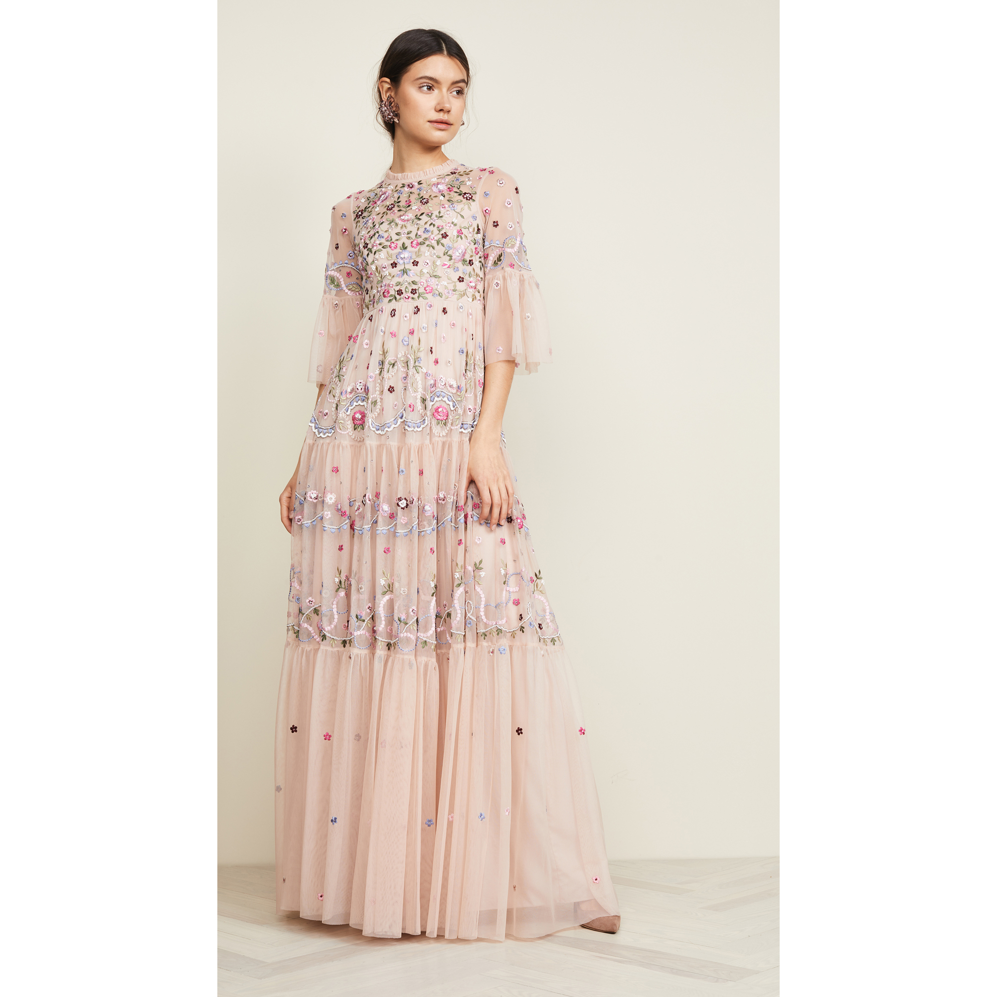 361d8c177199 Rose Wedding Gown: Needle & Thread Dreamers Lace Gown in Rose Quartz