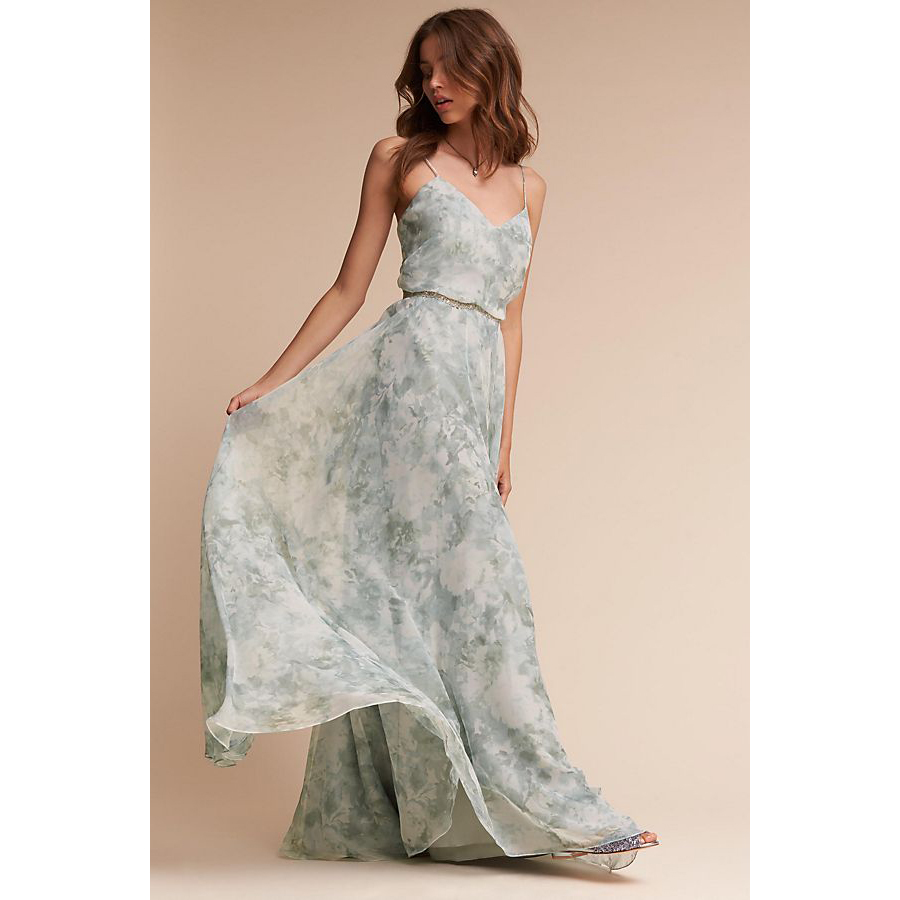 colorful wedding gowns Inesse Dress anthropologie photo