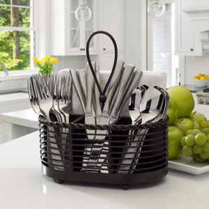 Flatware caddy with four compartments from The Home Depot photo
