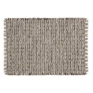 A set of four reversible placemats with a black and whitewoven design from Cost Plus World Market photo