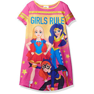 Best Girl Power Gifts DC Comics Big Girl's Super Heroes Short Sleeve Nightgown photo