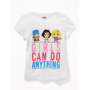 Best Girl Power Gifts DC Comics Super Hero 'Girls Can Do Anything' Toddler Tee photo