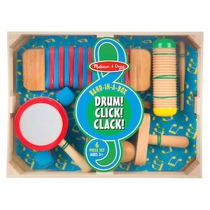Best Musical Instruments for Kids Melissa & Doug Band-in-a-Box Drum! Click! Clack! 6-Piece Musical Instrument Set photo