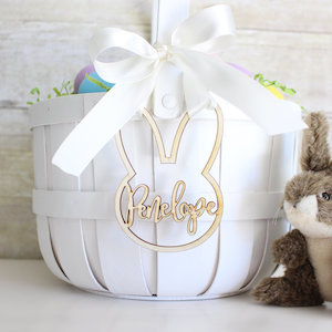 Personalized Easter Baskets Bunny Tag Etsy photo