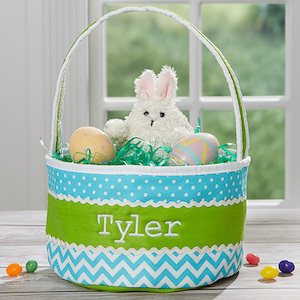 Personalized Easter Baskets Green & Blue Personalization Mall photo