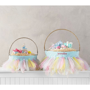Rainbow tutu Easter basket liners from Pottery Barn Kids photo