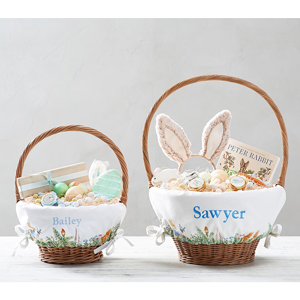 Peter Rabbit basket liners from Pottery Barn Kids photo