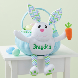 Personalized blue and green Easter basket from Walmart photo