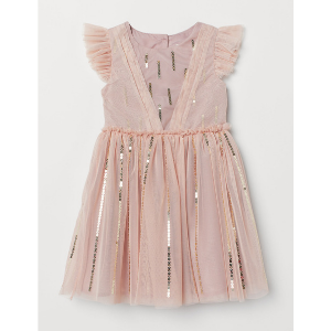 Flower Girl Dresses Under $50 H&M Kids Tulle Dress with Sequins photo