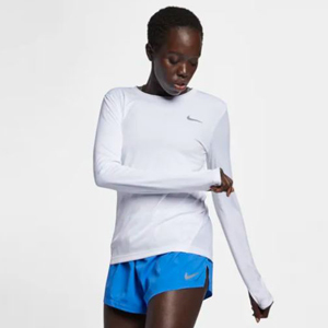 White Nike running top with long sleeves photo