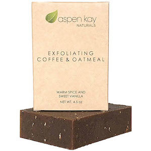 Daylight Savings Time Survival Tools Aspen Kay Naturals Coffee & Oatmeal Soap Bar photo