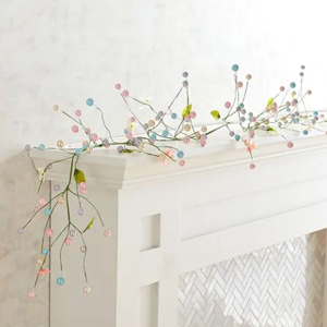 Easter garland featuring small pink and blue beads from Pier 1 Imports photo