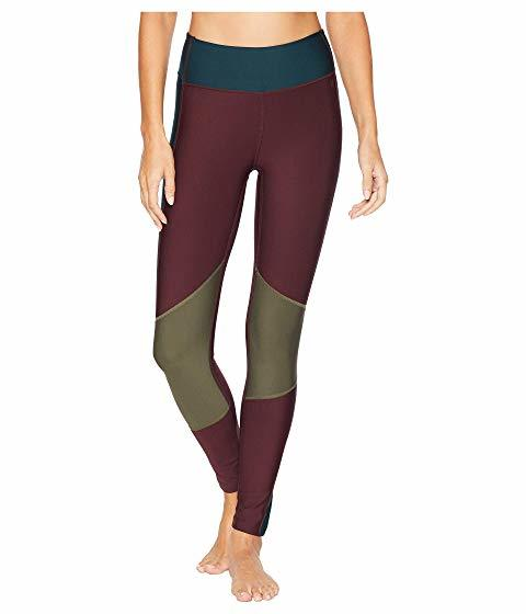 Maroon and gold swim leggings photo