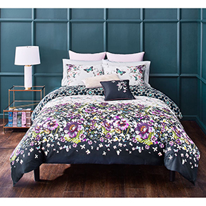 Navy blue, purple, and green Ted Baker London bedroom set from Nordstrom photo