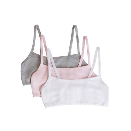 Fruit of the Loom Spaghetti Strap Sports Bras in Pink, Grey, White photo