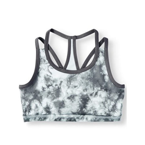 Avia Active Soft Silver Tie-Dye Sports Bra for Little Girls and Big Girls photo