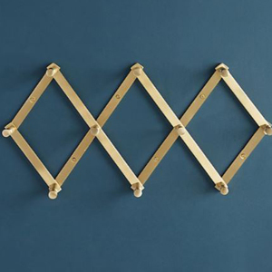 Gold accordion hook rack with 10 pegs from Anthropologie photo