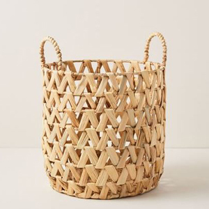 Small woven basket with two handles from West Elm photo