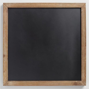 Black magnetic chalkboard with a wooden frame from Cost Plus World Market photo