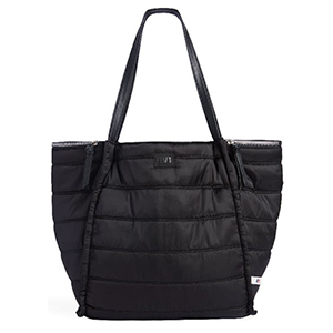 Large black workout tote. photo