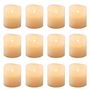 Pack of 12 LED candles from The Home Depot photo