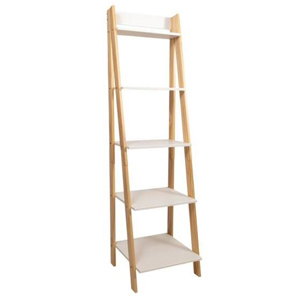 A wooden ladder with five shelves from The Home Depot photo