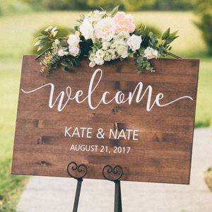 Custom wedding welcome sign from Etsy photo