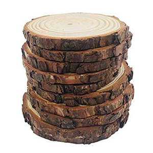 10-Piece set of wooden slabs from Amazon photo