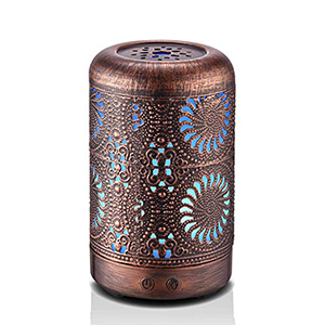 Bronze Mini Vintage Metal Cool Mist Humidifier and Essential Oil Diffuser photo