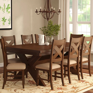 Nine-Piece dining set with leaf and eight chairs from Wayfair photo