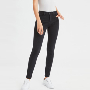 Black high-waist jeggings from American Eagle photo