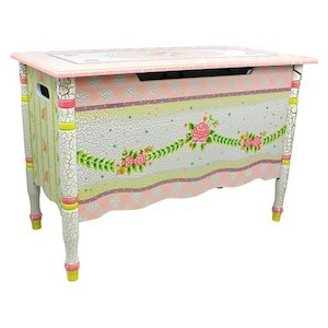 Fantasy Fields Crackled Rose Toy Chest photo