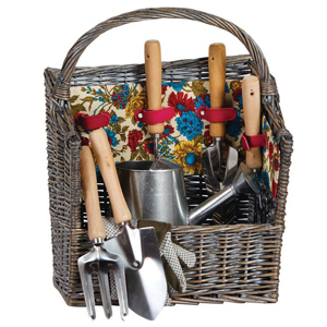 Woven basket filled with garden tools from Houzz photo