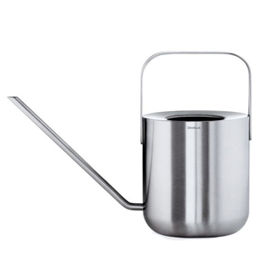Metal watering can with long spout photo