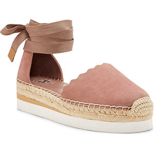 Pink suede espadrille sandals from Nordstrom photo