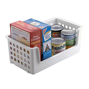 White basket container for holding food. photo