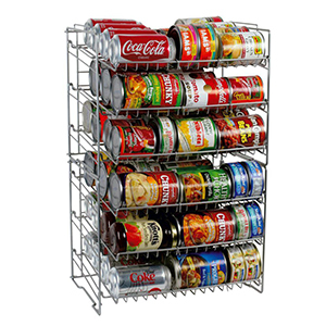 Can holder with six racks. photo