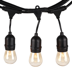 Industrial outdoor patio lights with a bulb design photo