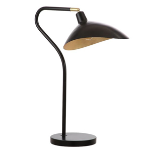 Black table lamp with adjustable frame photo