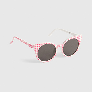 Gap Pink Gingham Sunglasses for Baby and Toddler Girls photo